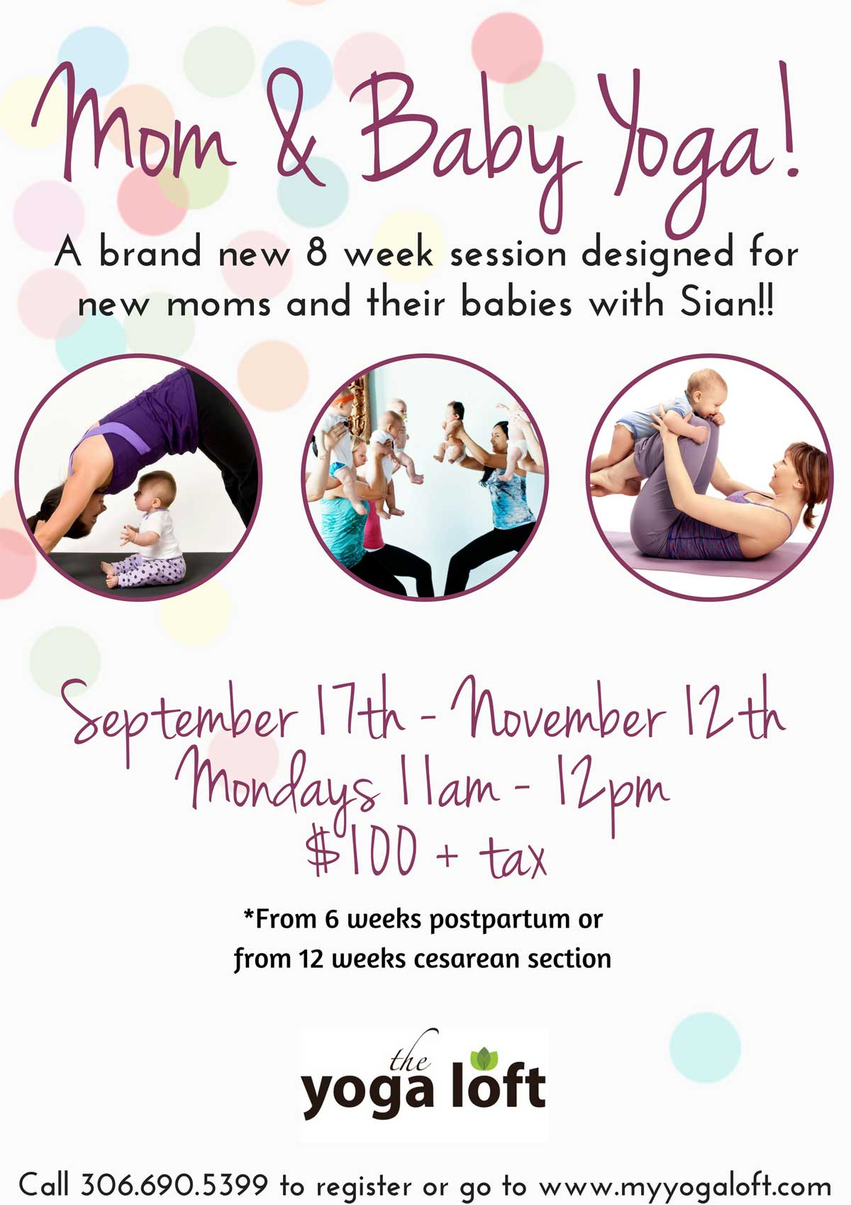 Parent Baby Yoga at Yoga Loft